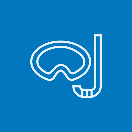 Mask and snorkel thick line icon with pointed corners and edges for web, mobile and infographics. Vector isolated icon.