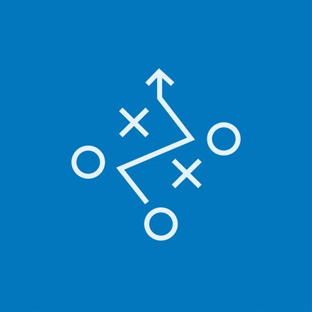 tactical: Tactical plan thick line icon with pointed corners and edges for web, mobile and infographics. Vector isolated icon.