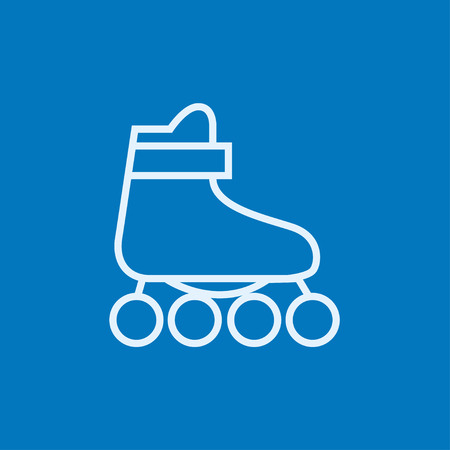Roller skate thick line icon with pointed corners and edges for web, mobile and infographics. Vector isolated icon.