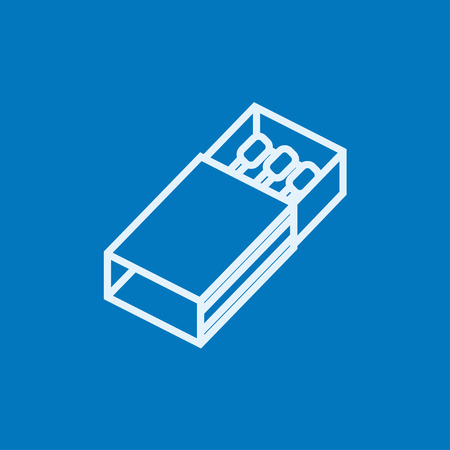 matchbox: Matchbox thick line icon with pointed corners and edges for web, mobile and infographics. Vector isolated icon. Illustration