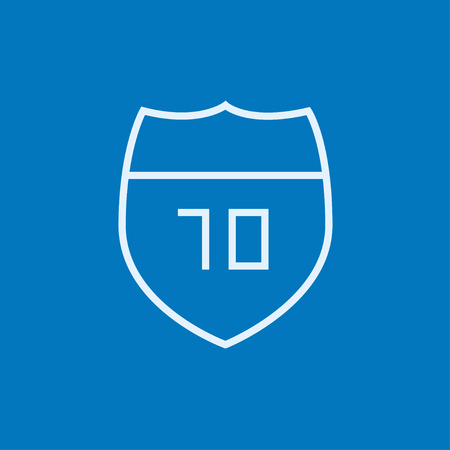 Route road sign thick line icon with pointed corners and edges for web, mobile and infographics. Vector isolated icon.
