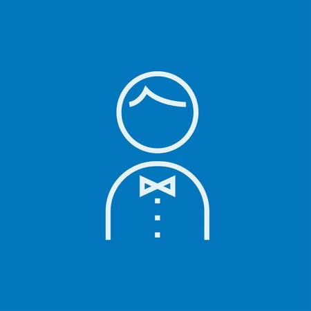 Kellner dicke Linie Symbol mit spitzen Ecken und Kanten für Web, Mobile und Infografiken. Vector isoliert Symbol.