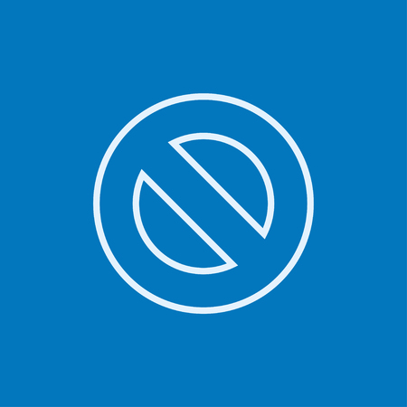 Not allowed sign thick line icon with pointed corners and edges for web, mobile and infographics. Vector isolated icon. Ilustração