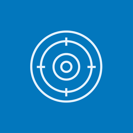 precise: Target board thick line icon with pointed corners and edges for web, mobile and infographics. Vector isolated icon.