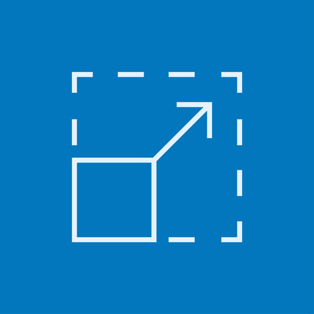 minimal: Scalability thick line icon with pointed corners and edges for web, mobile and infographics. Vector isolated icon.