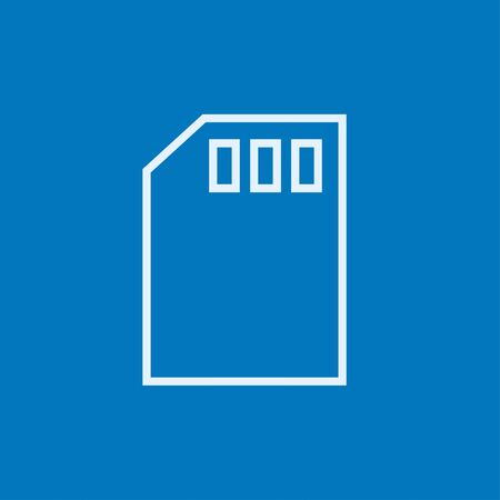 sim card: Sim card thick line icon with pointed corners and edges for web, mobile and infographics. Vector isolated icon. Illustration