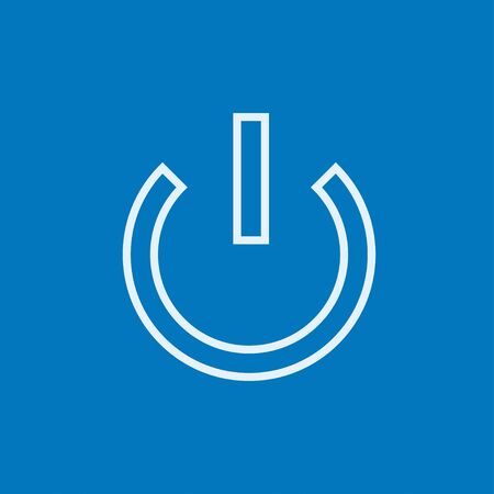Power button thick line icon with pointed corners and edges for web, mobile and infographics. Vector isolated icon.