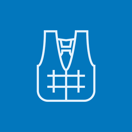 Life vest thick line icon with pointed corners and edges for web, mobile and infographics. Vector isolated icon. Illustration