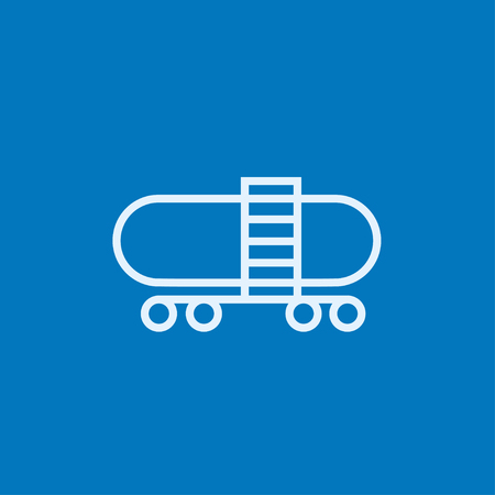 Railway cistern thick line icon with pointed corners and edges for web, mobile and infographics. Vector isolated icon. 向量圖像