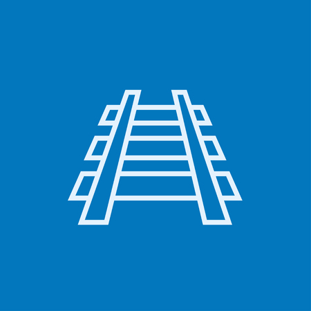 railway track: Railway track thick line icon with pointed corners and edges for web, mobile and infographics. Vector isolated icon. Illustration