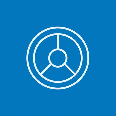 Steering wheel thick line icon with pointed corners and edges for web, mobile and infographics. Vector isolated icon. Stock Illustratie