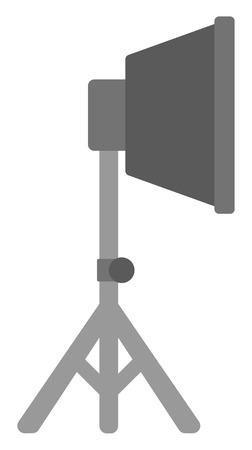 studio lighting: Photo studio lighting equipment vector flat design illustration isolated on white background.
