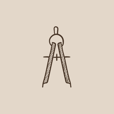 Compass sketch icon for web, mobile and infographics. Hand drawn vector isolated icon. Illustration