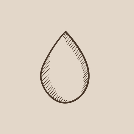 Water drop sketch icon for web, mobile and infographics. Hand drawn vector isolated icon.