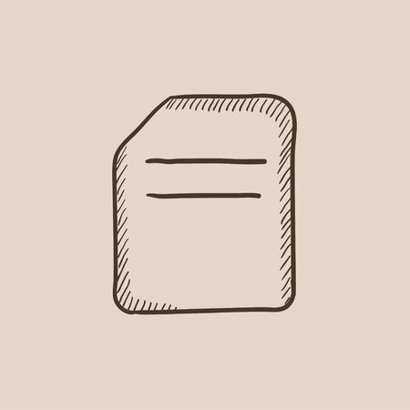 Document sketch icon for web, mobile and infographics. Hand drawn vector isolated icon. Illustration