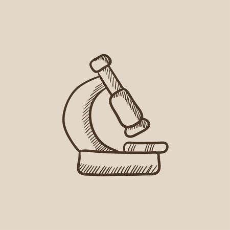 Microscope sketch icon for web, mobile and infographics. Hand drawn vector isolated icon.