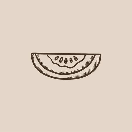 Melon sketch icon for web, mobile and infographics. Hand drawn vector isolated icon. Stock Vector - 54575878