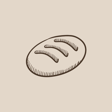 Loaf sketch icon for web, mobile and infographics. Hand drawn vector isolated icon.