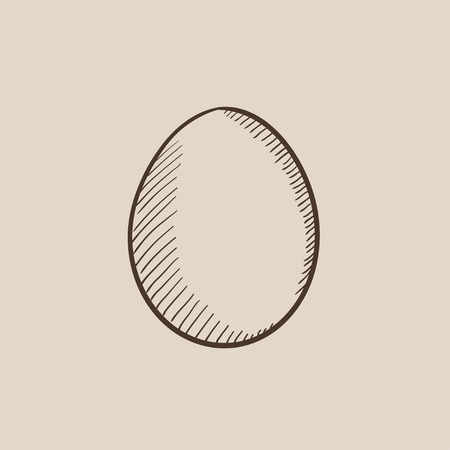 Egg sketch icon for web, mobile and infographics. Hand drawn vector isolated icon.