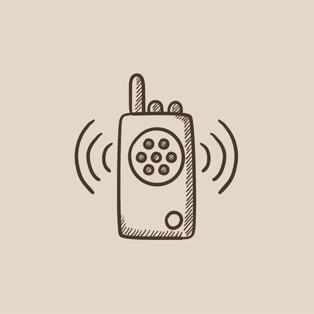 Radio set icône de croquis pour le web, mobile et infographie. Icône isolé de vecteur dessiné à la main. Banque d'images - 54578035