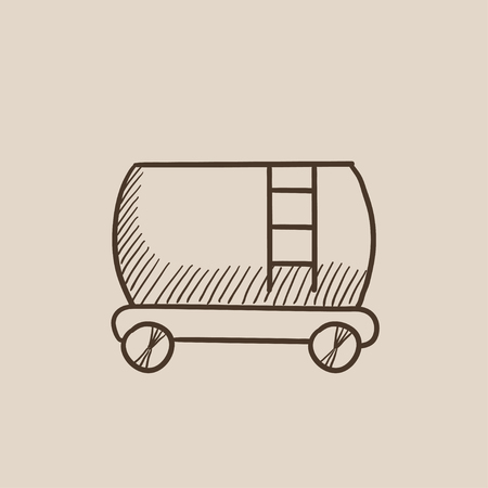 cistern: Railway cistern sketch icon for web, mobile and infographics. Hand drawn vector isolated icon.