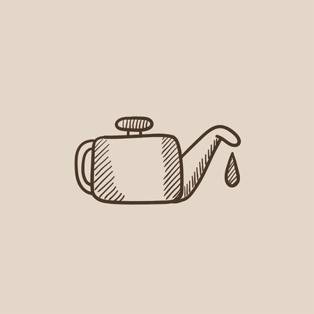 Oiler sketch icon for web, mobile and infographics. Hand drawn vector isolated icon. Ilustração