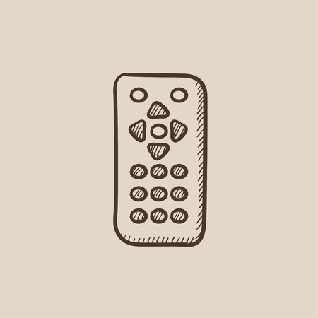 Remote control sketch icon for web, mobile and infographics. Hand drawn vector isolated icon. Иллюстрация