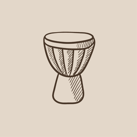Timpani sketch icon for web, mobile and infographics. Hand drawn vector isolated icon. Illusztráció
