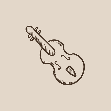 Cello sketch icon for web, mobile and infographics. Hand drawn vector isolated icon. Çizim