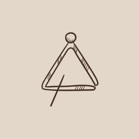 struck: Triangle sketch icon for web, mobile and infographics. Hand drawn vector isolated icon. Illustration