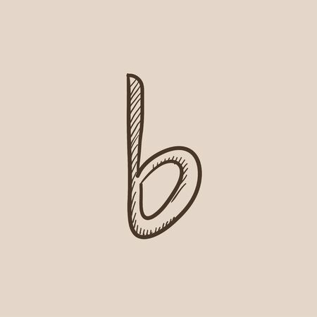 melodies: Musical note sketch icon for web, mobile and infographics. Hand drawn vector isolated icon. Illustration