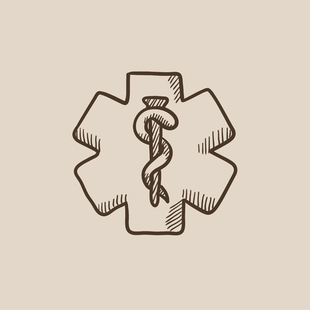 Medical symbol sketch icon for web, mobile and infographics. Hand drawn vector isolated icon.