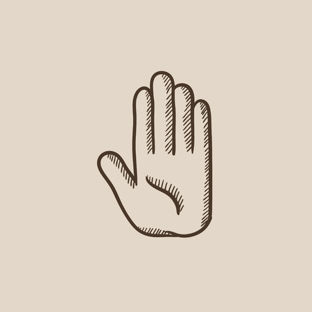 latex glove: Medical glove sketch icon for web, mobile and infographics. Hand drawn vector isolated icon. Illustration