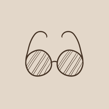 vision loss: Eyeglasses sketch icon for web, mobile and infographics. Hand drawn vector isolated icon. Illustration