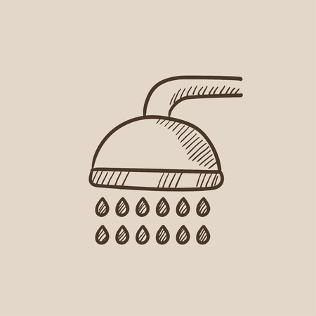 Shower sketch icon for web, mobile and infographics. Hand drawn vector isolated icon.