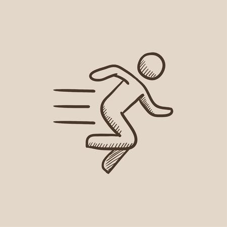 Icono de dibujo hombre corriente para web, móvil e infografía. Dibujado a mano icono aislado del vector.