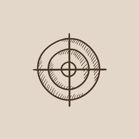 shooting target: Shooting target sketch icon for web, mobile and infographics. Hand drawn vector isolated icon. Illustration