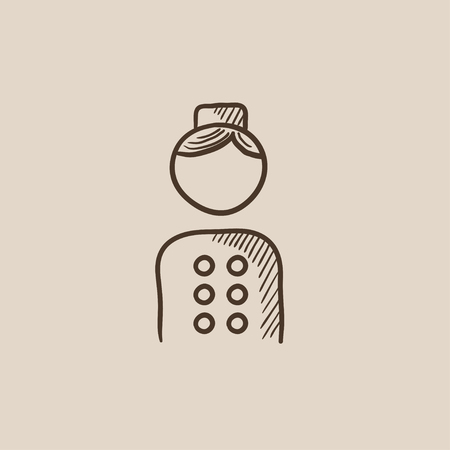 bellboy: Bellboy sketch icon for web, mobile and infographics. Hand drawn vector isolated icon.