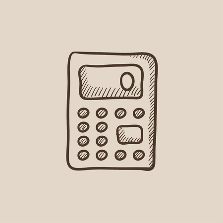 Calculator sketch icon for web, mobile and infographics. Hand drawn vector isolated icon. Illustration
