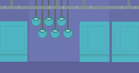 switchgear: Background of electric switchboard vector flat design illustration. Horizontal layout. Illustration