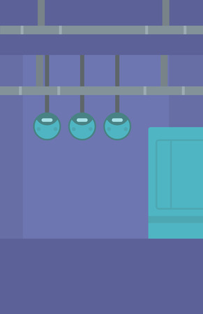 switchboard: Background of electric switchboard vector flat design illustration. Vertical layout.