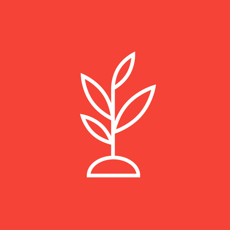 Sprout thick line icon with pointed corners and edges for web, mobile and infographics. Vector isolated icon. 向量圖像