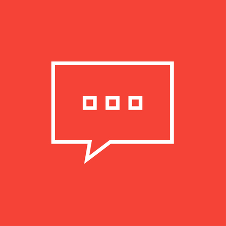 communication cartoon: Speech squares with dots inside thick line icon with pointed corners and edges for web, mobile and infographics. Vector isolated icon. Illustration