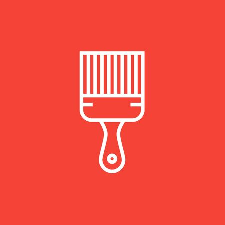 Paintbrush thick line icon with pointed corners and edges for web, mobile and infographics. Vector isolated icon.