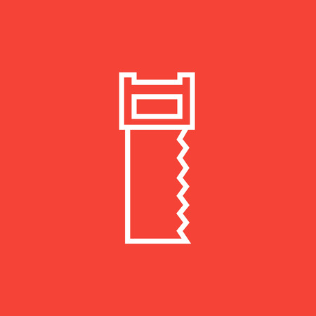 cut off saw: Saw thick line icon with pointed corners and edges for web, mobile and infographics. Vector isolated icon. Illustration