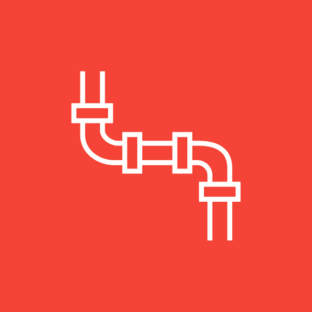 Water pipeline thick line icon with pointed corners and edges for web, mobile and infographics. Vector isolated icon. 向量圖像