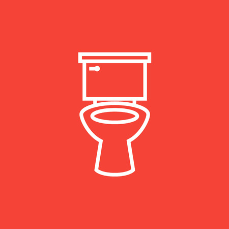 Lavatory bowl thick line icon with pointed corners and edges for web, mobile and infographics. Vector isolated icon. Illustration