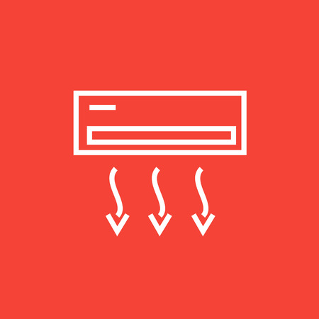 ionizer: Air conditioner thick line icon with pointed corners and edges for web, mobile and infographics. Vector isolated icon.