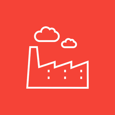 Factory thick line icon with pointed corners and edges for web, mobile and infographics. Vector isolated icon. 矢量图像