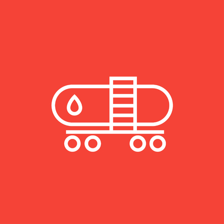 Oil tank thick line icon with pointed corners and edges for web, mobile and infographics. Vector isolated icon.
